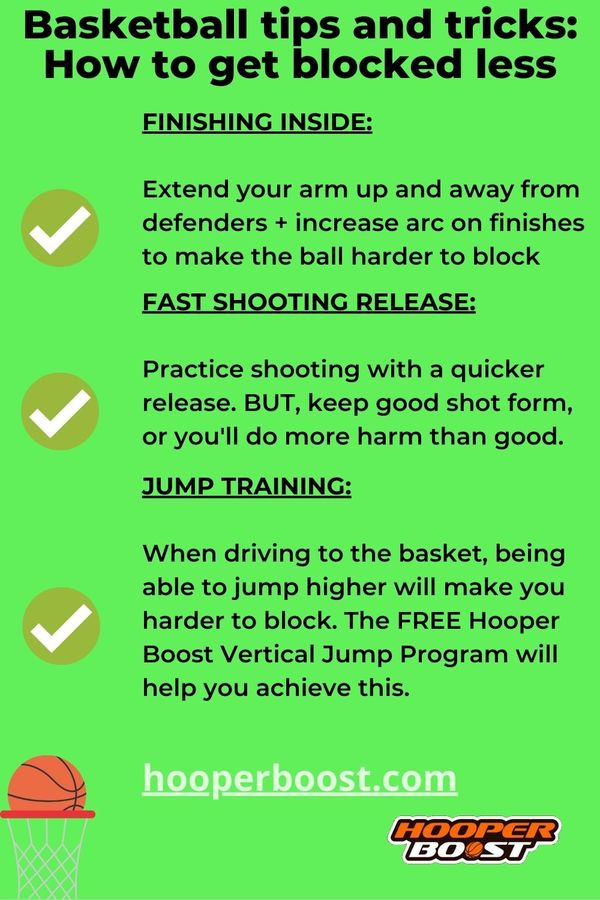 basketball tips to get blocked less