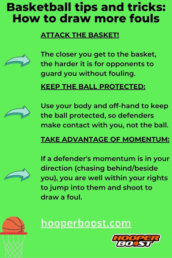 ways to draw more fouls as a basketball player