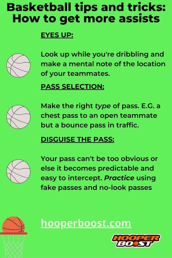 basketball tips to get more assists