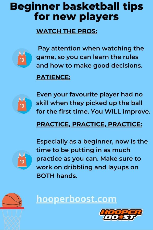 beginner tips for players new to basketball