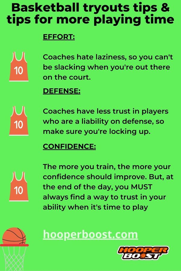 basketball tryouts tips to get more playing time