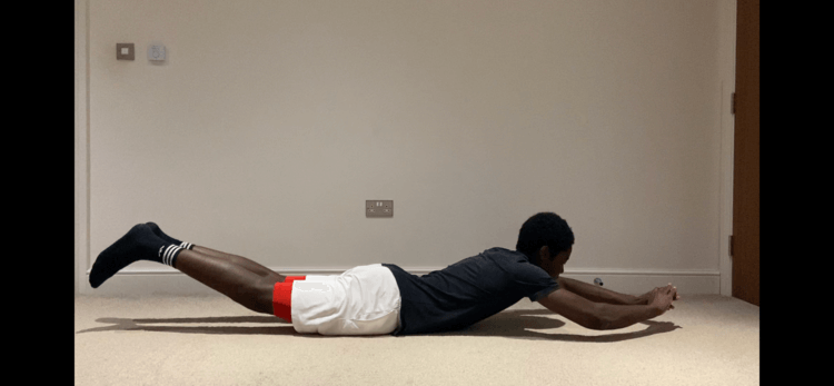 core exercises: superman hold