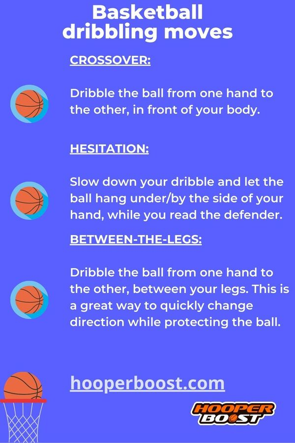 three dribbling moves in basketball