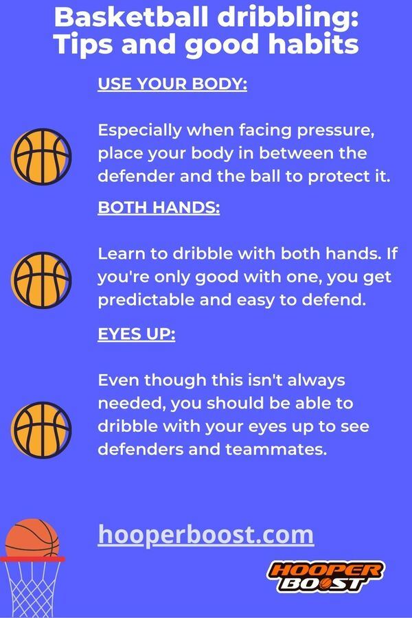 good habits when dribbling in basketball